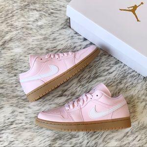 """New Nike Air Jordan 1 Low """"Arctic Pink/White/Gum"""""""